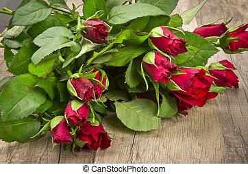rose und Schokoladenherz am Valentinstag - rosy and...