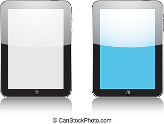Vector concept tablet PS, IPAD No transparency effects EPS8...