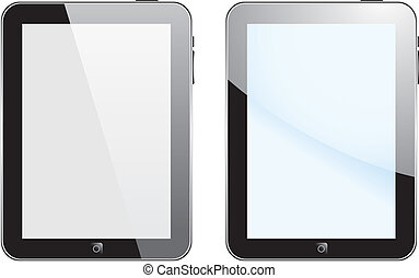 Vector concept tablet  PS, IPAD. No transparency effects. EPS8 Only