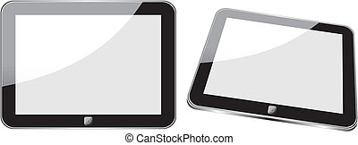 Vector concept tablet PS, IPAD. No transparency effects....