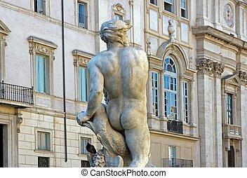 Moorish fountain 1576, piazza navonna Rome (Italy)