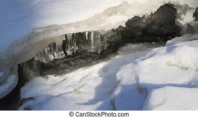 Falls frozen in winter.