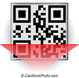 QR-code - The code is encrypted word QR-code EPS 8 file