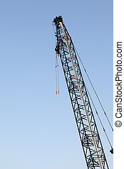 Crane in work place
