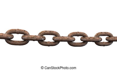 Rusty old chain, loopable