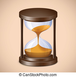 Hourglass - Sand watch. Highly detailed vector illustration...