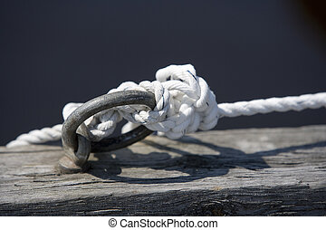 Tied Knot on a worn pier