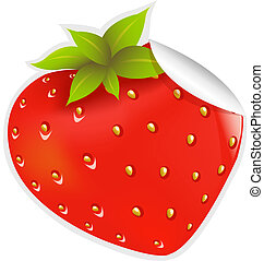 Label Strawberry
