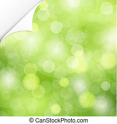 Nature Background With Corner