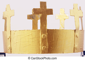 crown - A golden crown with crosses