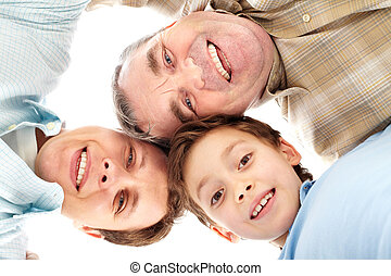 Smiling family - Portrait of male members of the family of...