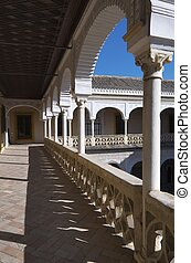 Palace of Pilatos - second floor of the main courtyard in...
