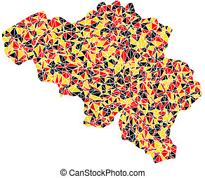 Map of Belgium (Europe)