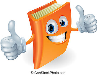 Thumbs up book cartoon character - A happy book cartoon...