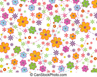 Abstract flower background - Vector illustration of abstract...