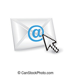 Vector email with cursor