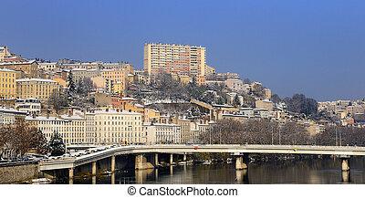Lyon Croix Rousse and Rh?ne river