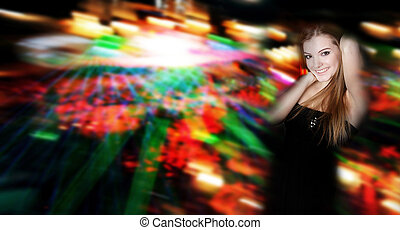 young attractive woman in nightclub