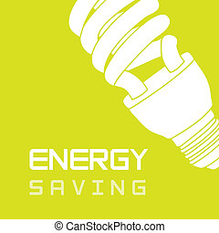 energy saving - bulb electric over green background, energy...