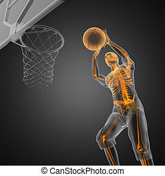 basketball game player made in 3D