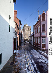 Lane street winter village Hastings England