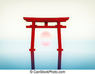Torii - illustration of a japanese torii
