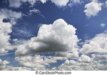cloud scape on blue sky background