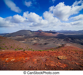 Mountains of fire,Timanfaya National Park in Lanzarote...