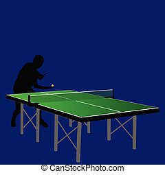 table tennis serving illustration