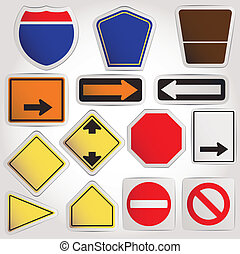 Vector Blank road signs