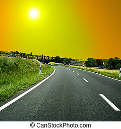 expressway - nice long and wide roads for car drivers