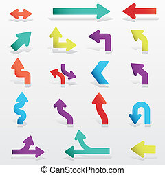 Abstract design elements. Arrows