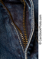 Denim Zipper Detail