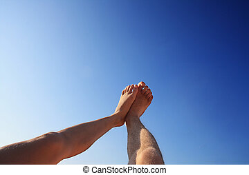 foot high direction sky