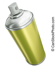 Yellow spray can - Spray can isolated on white background 3D...
