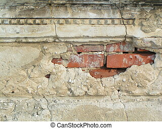 Brick Wall - b - Brick Wall hidden under plaster