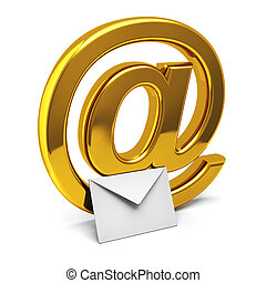 E-mail - Three dimensional icon of e-mail