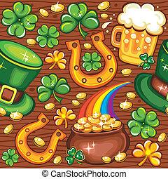 St. Patrick's day seamless backgrou
