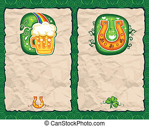 St. Patrick's Day paper backgrounds
