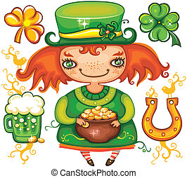 St. Patrick's Day leprechaun series