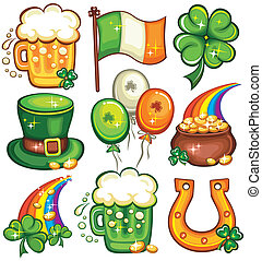 St. Patrick's Day icon set series
