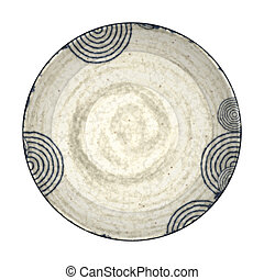 pottery plate - An image of a nice blue pottery plate