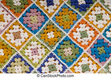 Multi colored blanket - Baby blanket of granny squares