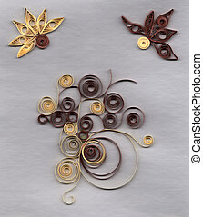 applique, kwiat,  quilling