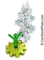 Success Cogs - A Colourful 3d Rendered Success through Cogs...