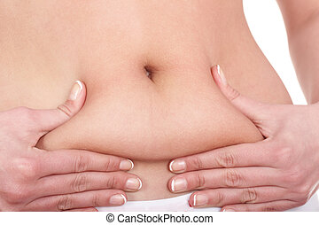 Fat female body part Isolated