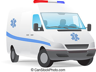 Ambulance van vector illustration isolated on white