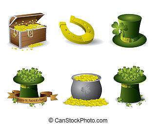 Saint Patrick's Day symbols vector set