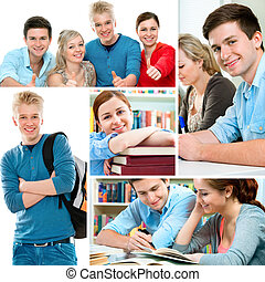 Education collage - Various education related images in a...
