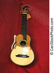 """Canarian guitar called """"timple""""."""